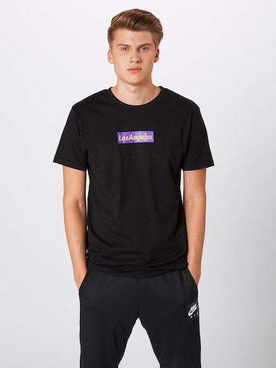 Mister Tee T-Shirt 'LSNGLS' in lila / schwarz, Produktansicht