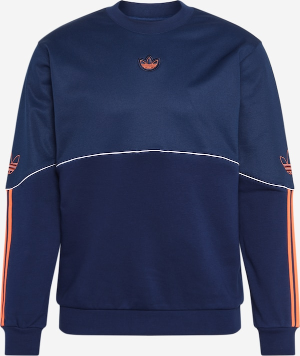 ADIDAS ORIGINALS Sweatshirt 'OVERDYED CREW' in dunkellila
