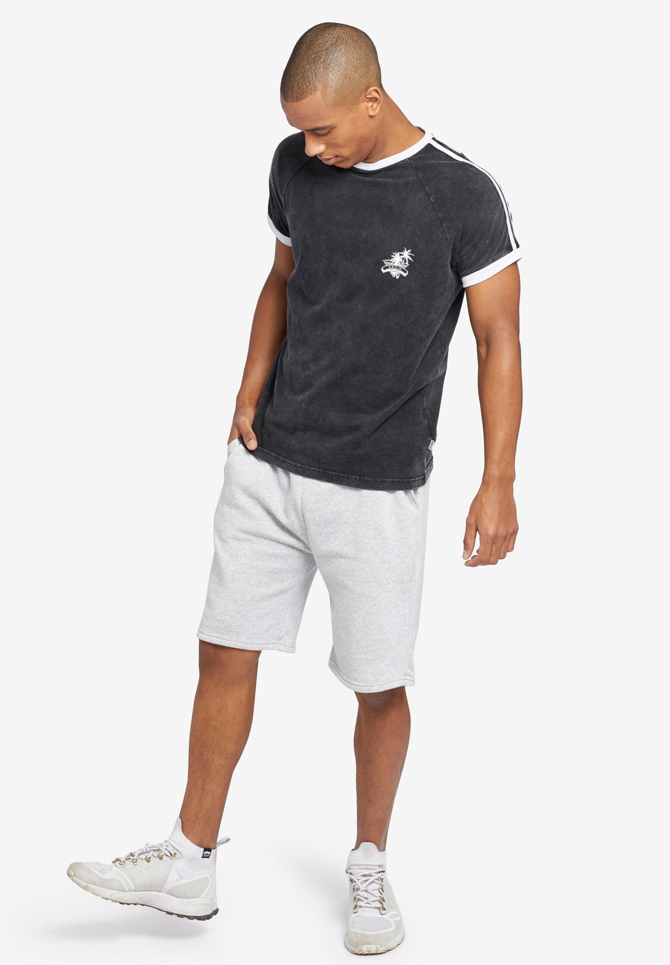Khujo shirt NoirBlanc 'justus' En T 8wnymvON0