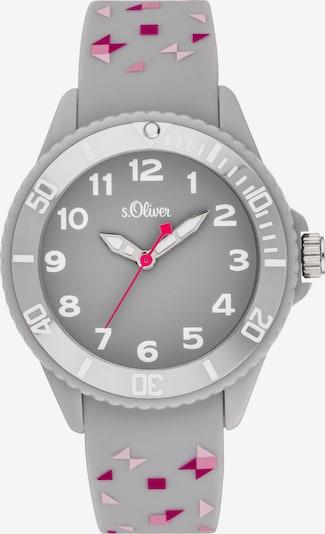 s.Oliver Uhr in grau / pink / rosa / weiß, Produktansicht