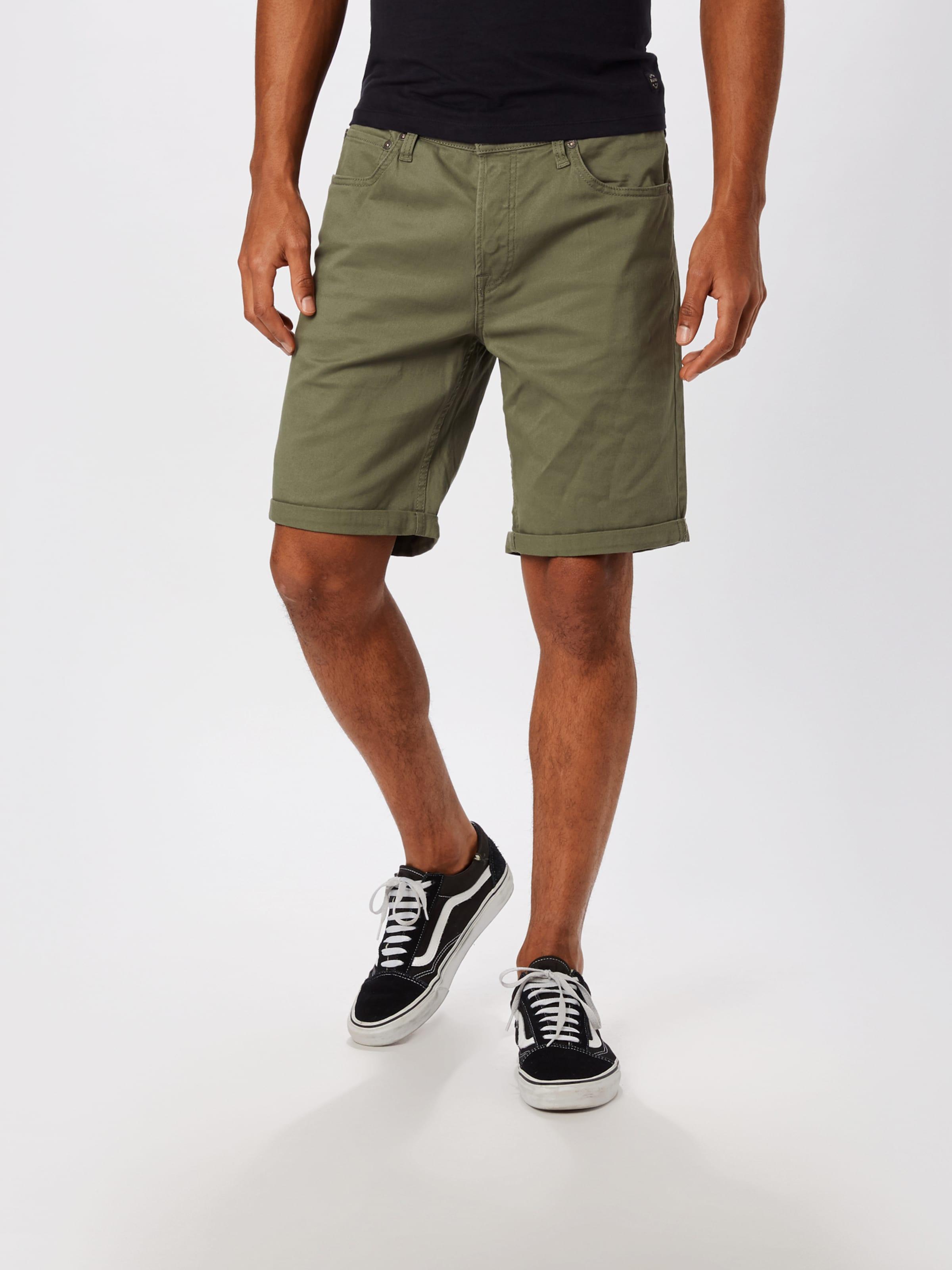 JACK & JONES Shorts 'Rick' in oliv Unifarben 5714500985020