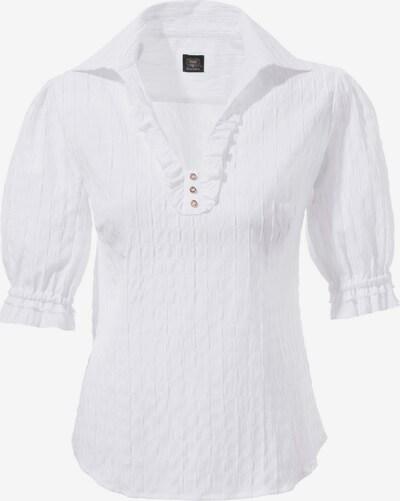 OS-TRACHTEN Trachtenbluse Damen in Schlupfform in weiß, Produktansicht