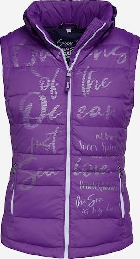 Soccx Steppweste mit Print und Kapuzenkragen in lila, Produktansicht
