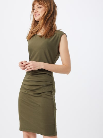 Kaffe Etuikleid 'India Slim' in oliv / dunkelgrün, Modelansicht