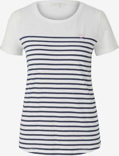 TOM TAILOR DENIM T-shirt en crème / bleu, Vue avec produit