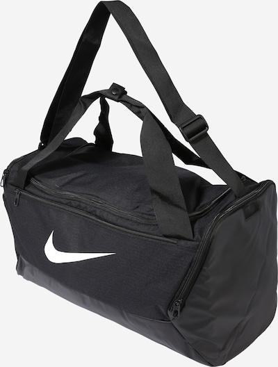 NIKE Sporttasche 'BRSLA S DUFF - 9.0' in schwarz / weiß: Seitenansicht