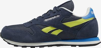 Reebok Classic Sneaker 'Classic Leather' in blau / hellblau / gelb, Produktansicht