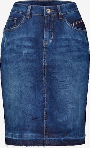 Fustă 'Patched denim Skirt' de la Cream pe albastru