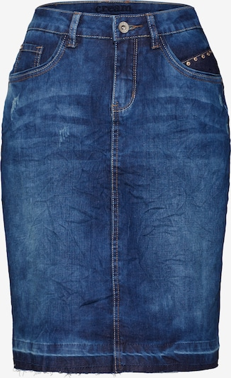 Cream Rok 'Patched denim Skirt' in de kleur Blauw denim, Productweergave