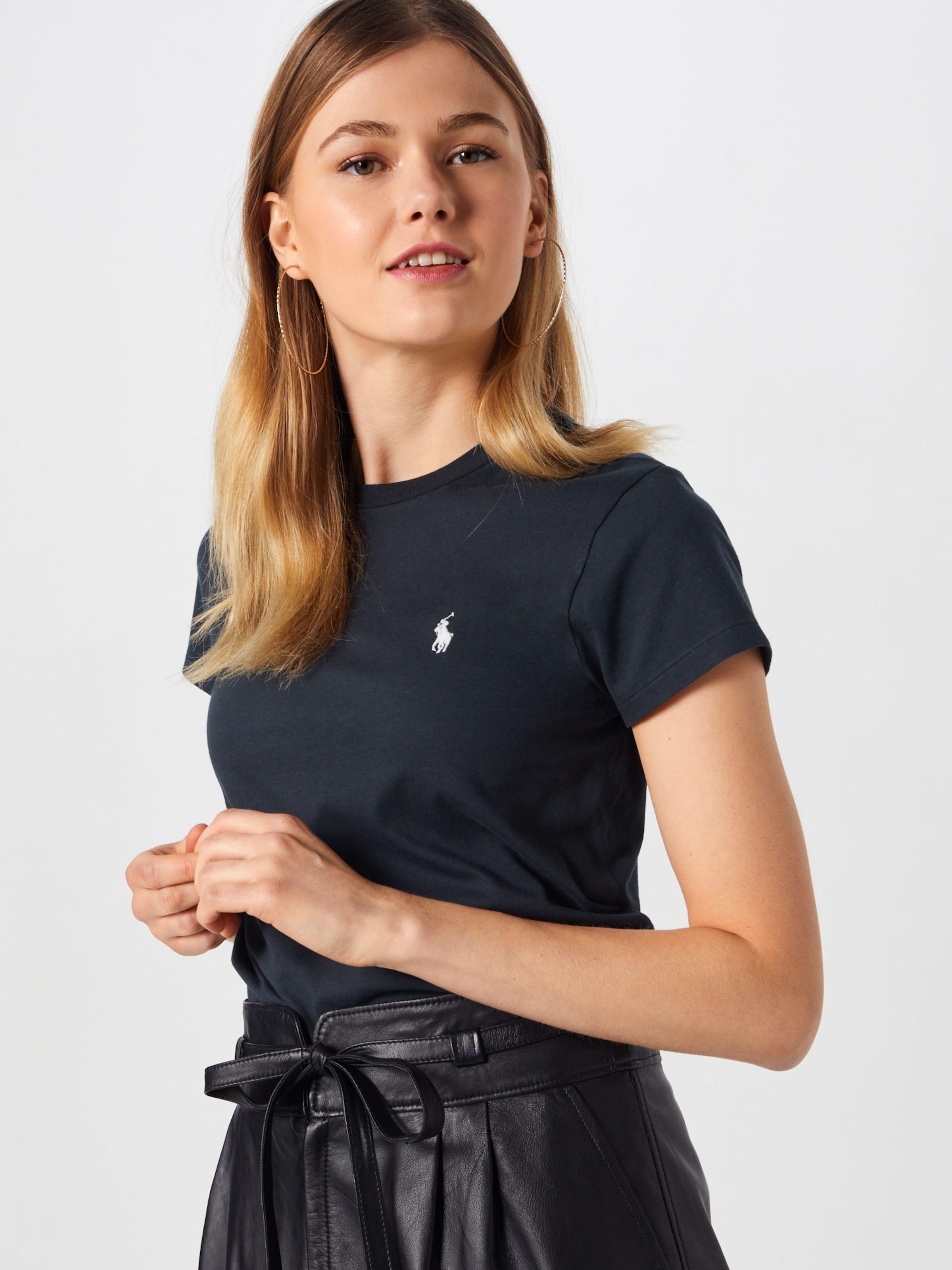 Ralph Shirt Lauren In Polo Schwarz W2ED9HI