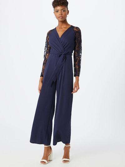Dorothy Perkins Overal 'LACE SLEEVE WRAP JUMPSUIT' - modrá, Model/ka