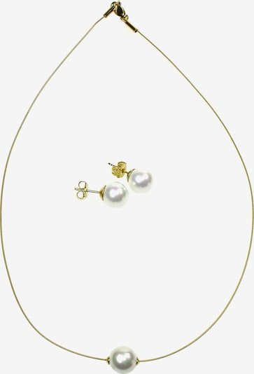 Perlas Orquidea Set 'The Floating Pearl' in gold / weiß, Produktansicht