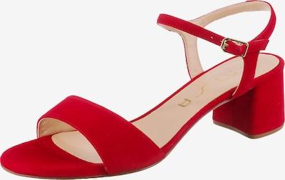 UNISA Gento Riemchensandaletten in rot, Produktansicht