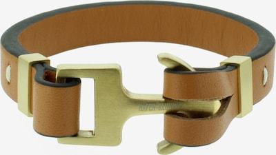Hafen-Klunker Armband in braun / gold: Frontalansicht