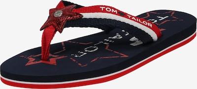 TOM TAILOR Zehentrenner in schwarz, Produktansicht