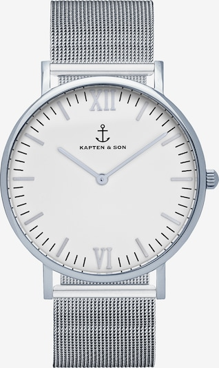 Kapten & Son Zegarek analogowy 'Campus' w kolorze srebrnym, Podgląd produktu