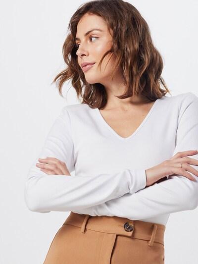 NA-KD Shirt 'power shoulder bodysuit' in weiß, Modelansicht