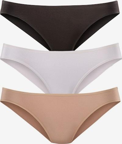 LASCANA Bikinislip in nude / schwarz / weiß, Produktansicht