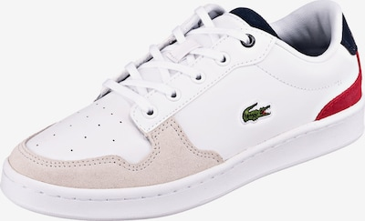 LACOSTE Sneakers Low MASTERS CUP 120 2 SU in beige / rot, Produktansicht