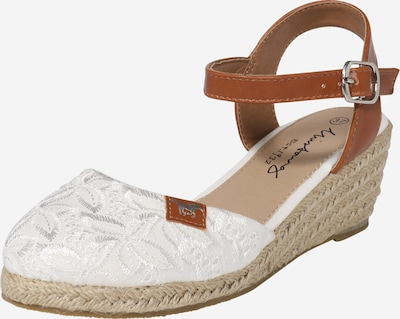 MUSTANG Sandal in Brown / White, Item view