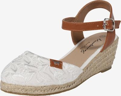 MUSTANG Sandalette in braun / weiß, Produktansicht