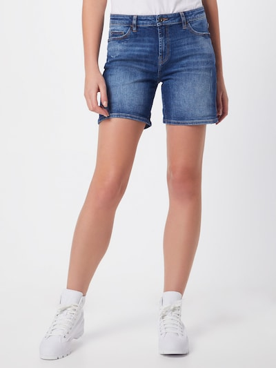 EDC BY ESPRIT Jeansshorts 'OCS MR Shorts' in blue denim: Frontalansicht