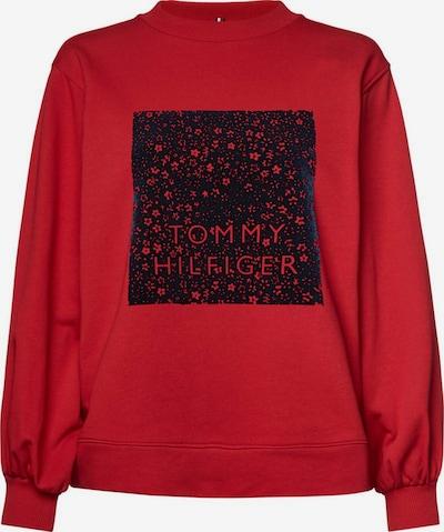TOMMY HILFIGER Sweatshirt 'Stacy C-Nk' in rot / schwarz: Frontalansicht
