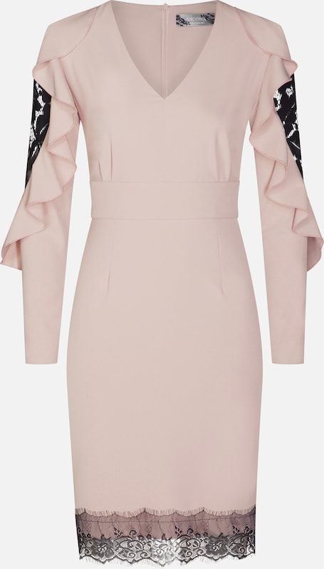 Nicowa Kleid 'JOHANNA' in Rosa   schwarz  Freizeit, schlank, schlank