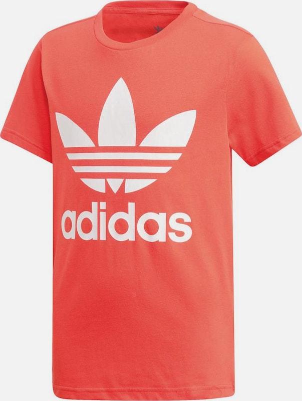ADIDAS ORIGINALS Póló 'Trefoil' piros fehér színben