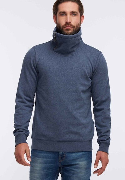 DREIMASTER Sweatshirt in de kleur Blauw gemêleerd: Vooraanzicht