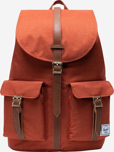 Herschel Rugzak 'Dawson' in de kleur Bruin / Sinaasappel, Productweergave