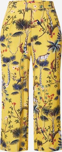 s.Oliver Pantalon à pince en jaune / mélange de couleurs, Vue avec produit