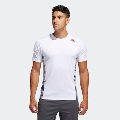 ADIDAS PERFORMANCE Functioneel shirt in de kleur Zwart / Wit: Vooraanzicht