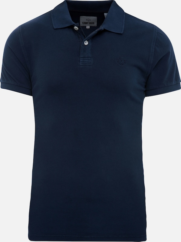 CAMP DAVID Polo in navy, Produktansicht