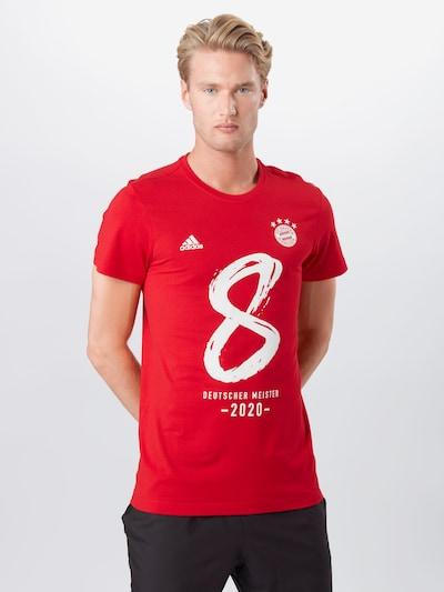 ADIDAS PERFORMANCE Dres 'FCB M20 Tee M' - červená / biela: Pohľad spredu