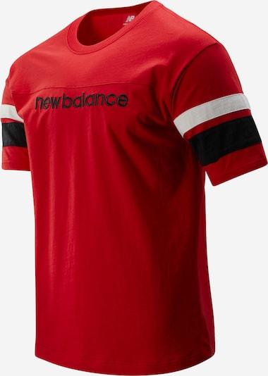 new balance T-Shirt ' MT93542 ' in rot / schwarz / weiß, Produktansicht