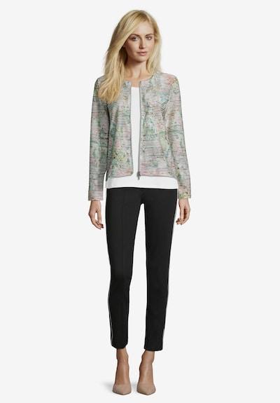 Betty Barclay Shirtjacke mit Reißverschluss in creme / mint: Frontalansicht