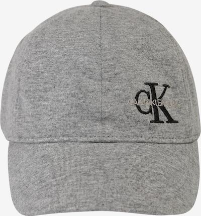 Calvin Klein Jeans Bonnet 'MONOGRAM BASEBALL CA' en gris chiné, Vue avec produit