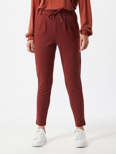 ONLY Pantalon en rouge foncé, Vue avec modèle