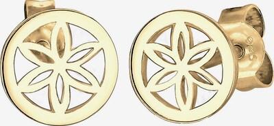 ELLI Ohrringe 'Blume' in gold, Produktansicht