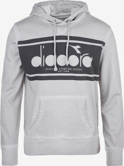 Diadora Kapuzenpullover 'Spectra' in grau / schwarz, Produktansicht