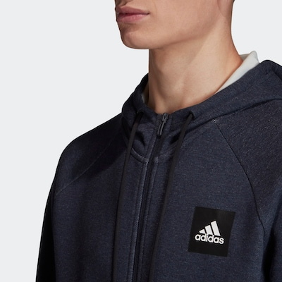 ADIDAS PERFORMANCE Sportsweatjacke in dunkelblau, Produktansicht