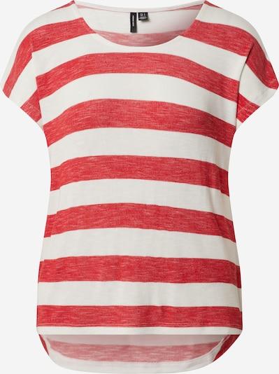 VERO MODA Shirt in de kleur Rood / Wit, Productweergave