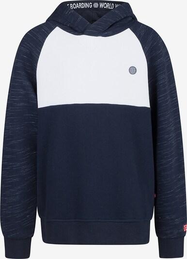 WE Fashion Sweater 'Benji' in nachtblau / weiß, Produktansicht