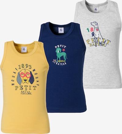 PETIT BATEAU Unterhemden in blau / gelb / grau, Produktansicht