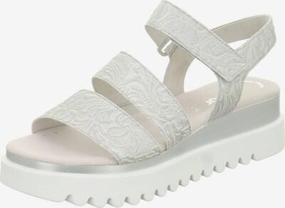 GABOR Sandale in hellgrau / silber, Produktansicht