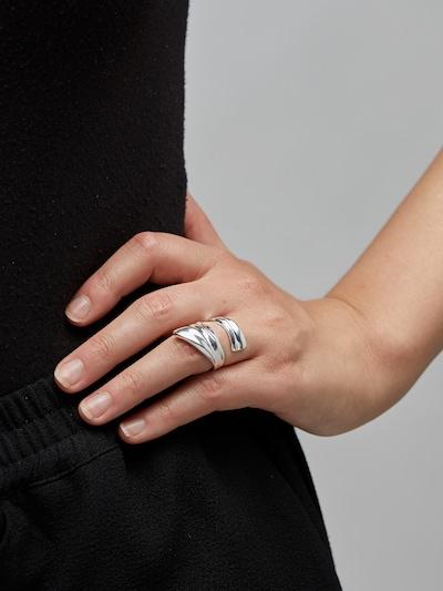 Žiedas 'Water' iš Pilgrim , spalva - Sidabras, Modelio vaizdas