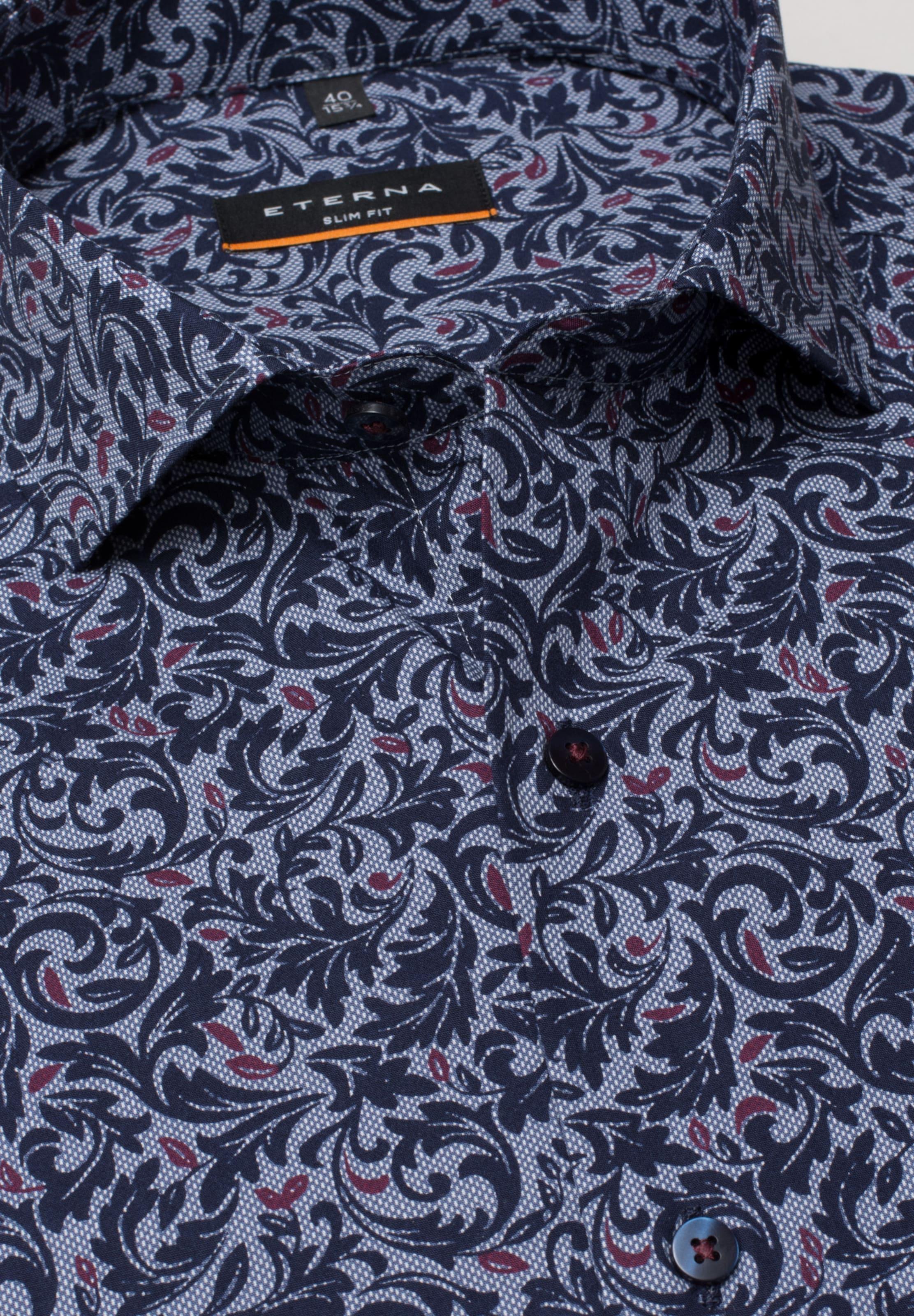 Eterna Eterna Hemd Hemd Blau In fgIY76ybv