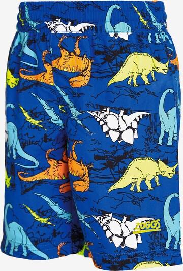 Zoggs Badeshorts 'Dino Land' in blau / hellblau / gelb / dunkelorange / weiß, Produktansicht
