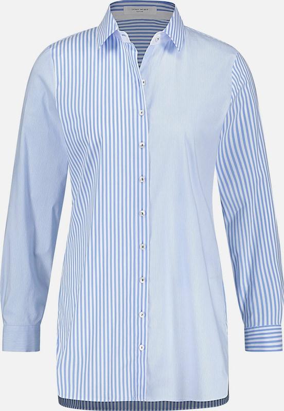 GERRY WEBER Blause in hellblau     weiß  Markenkleidung für Männer und Frauen dac7bf